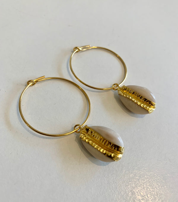 "Hiraani - ""Belle"" Cowrie Shell Earrings"