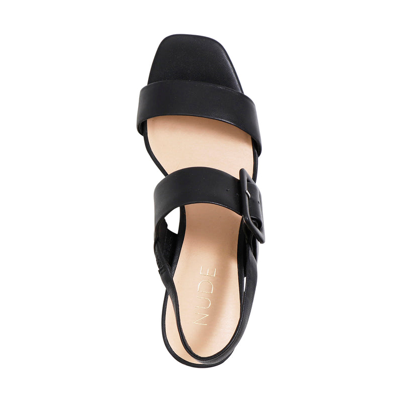 NUDE FOOTWEAR - Jovi (Black Leather)