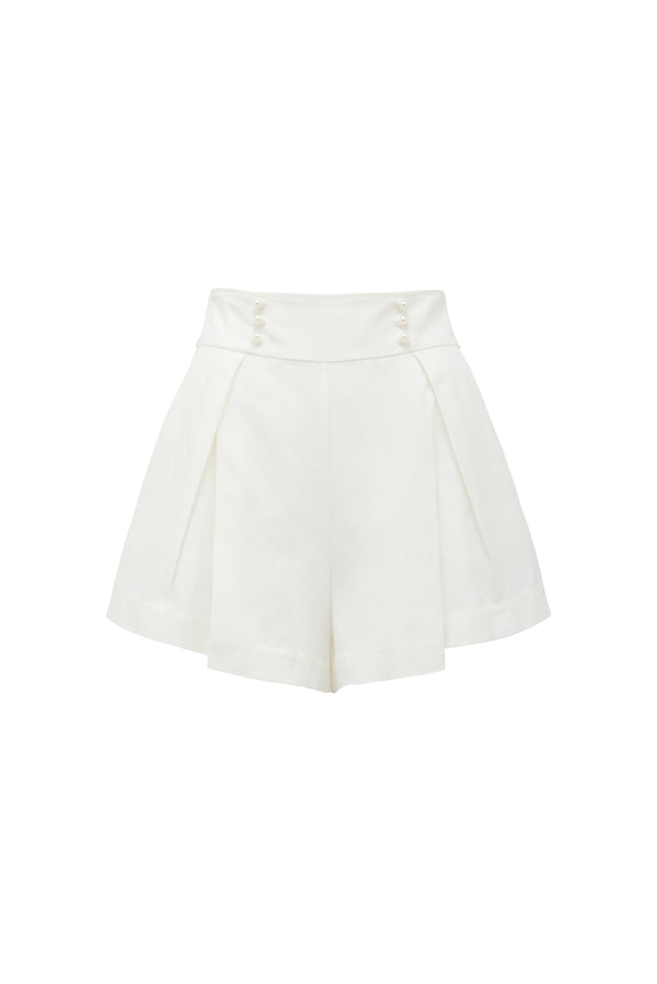 THURLEY - Atlantica Pearl Short (Ivory)