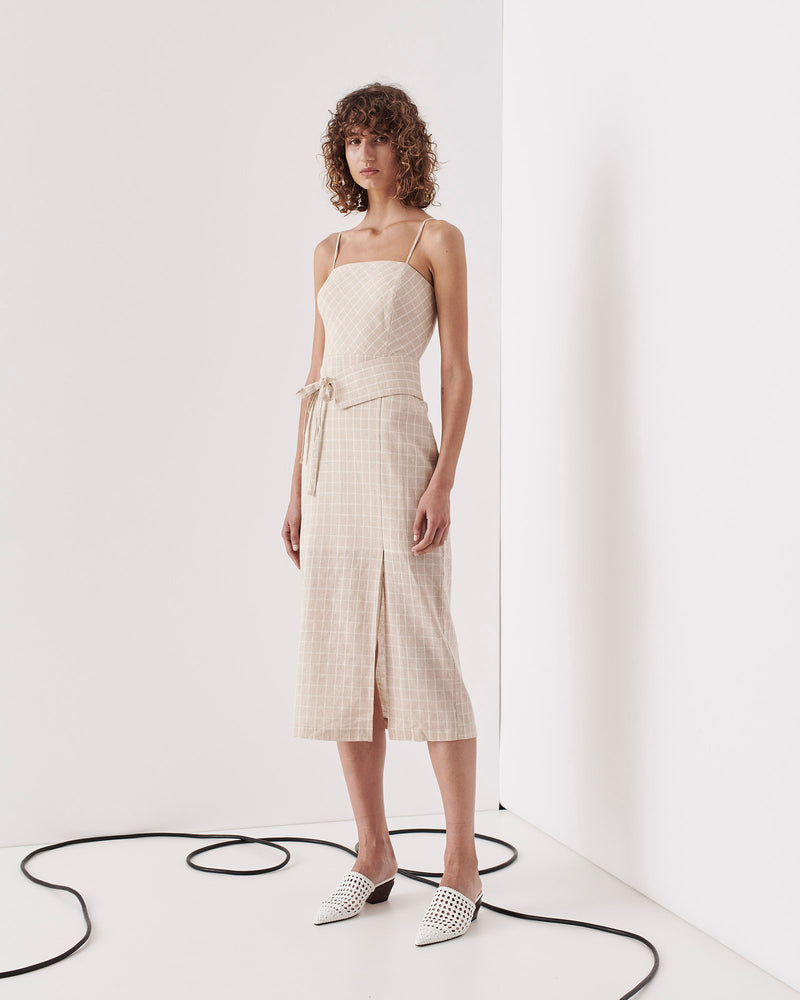 SAINTS THE LABEL - Kew Dress (Nude Check)