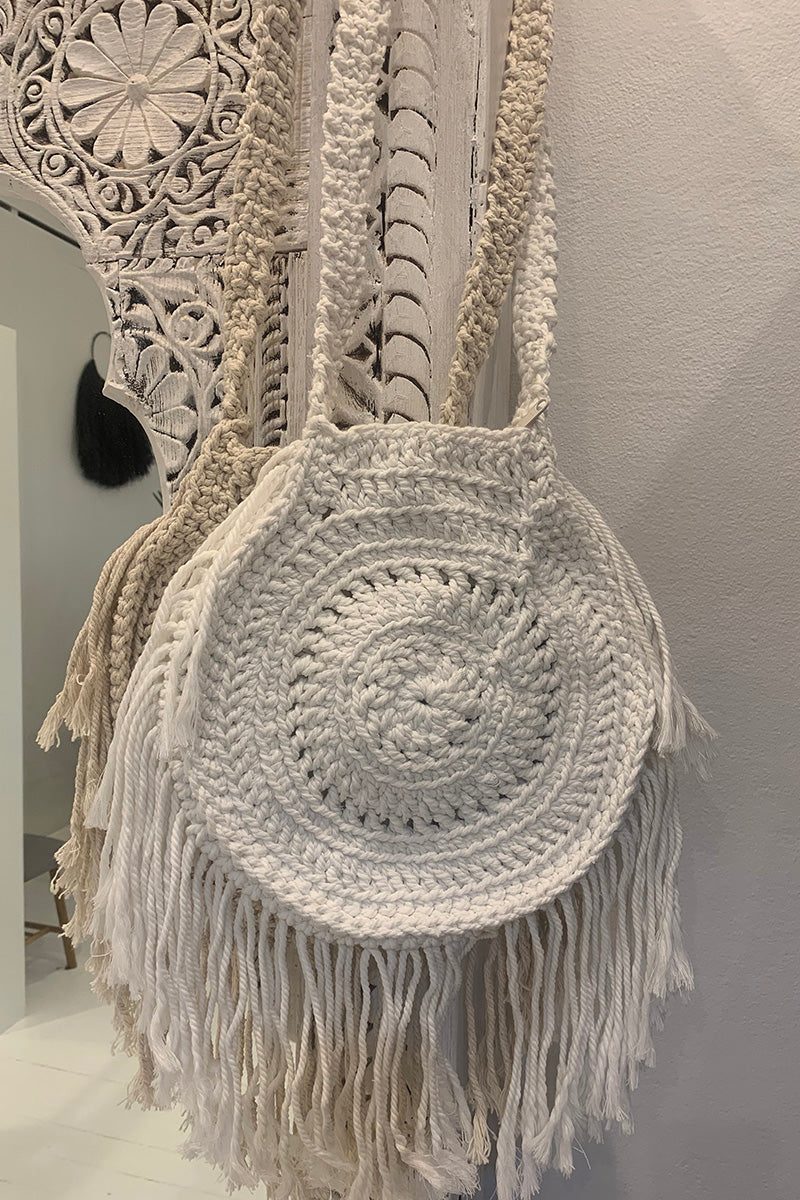 Elysian - Crochet Bag Cream