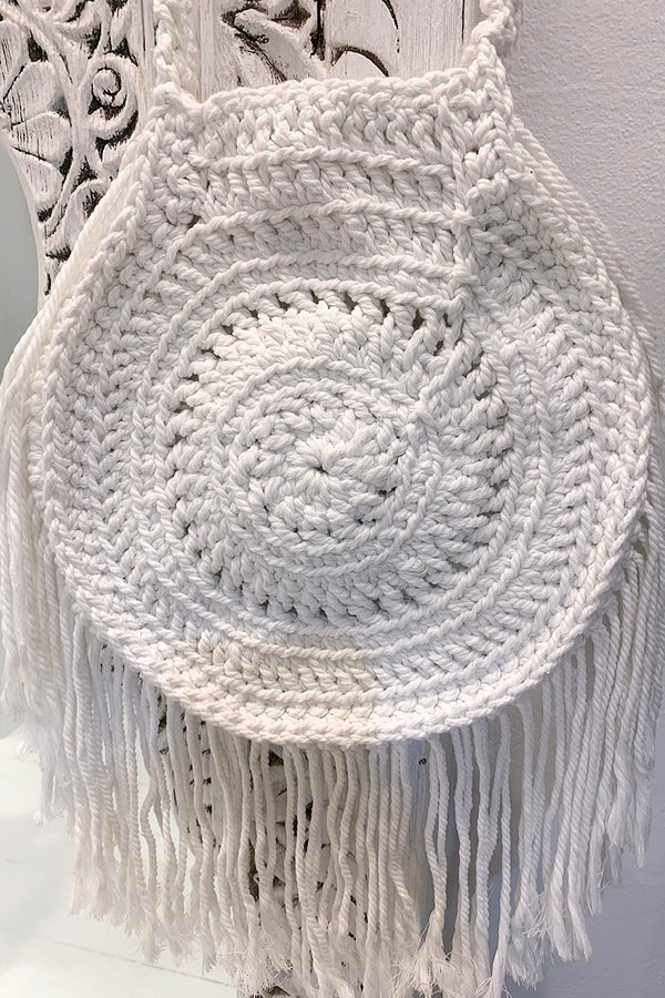 Elysian - Crochet Bag White