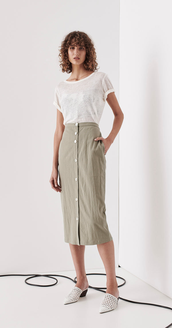 SAINTS THE LABEL - Brunswick Skirt (Sage)