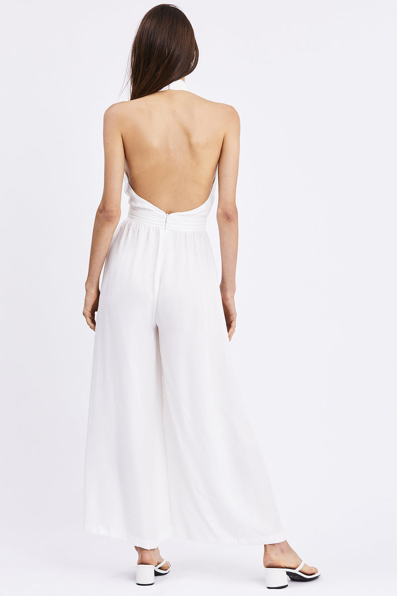 Third Form - Cross Paths Jumpsuit Off White