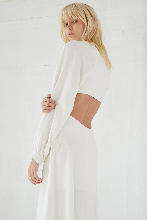 Third Form - Linger On Maxi Dress (Off White)