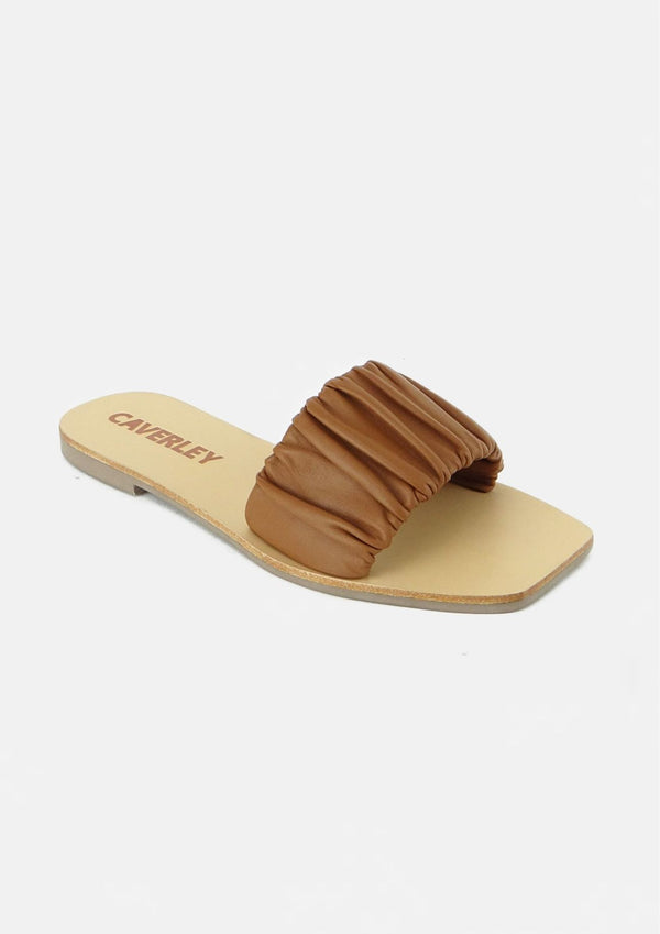 CAVERLEY - Scrunch Slide Tan