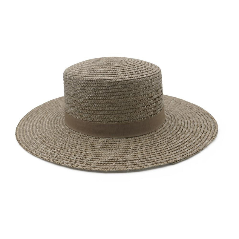 ACE OF SOMETHING - Vincenza Straw Boater (Pistachio)