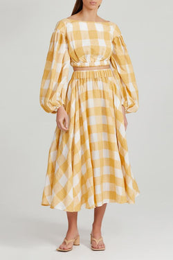ACLER - Sutherland Skirt (Canary Check)