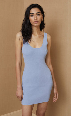 BEC & BRIDGE - Mimi Knit Mini Dress (Silver Blue)