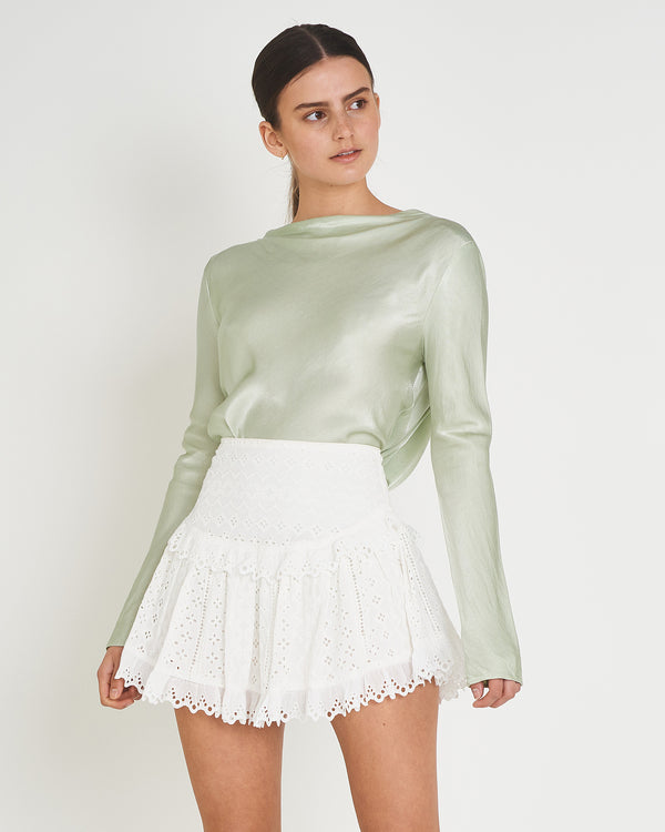 CARVER - Astrid Mini Skirt (White)