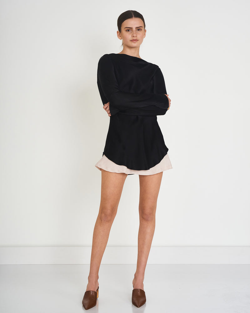 CARVER - Zoe Cowl Long Sleeve Top (Black)