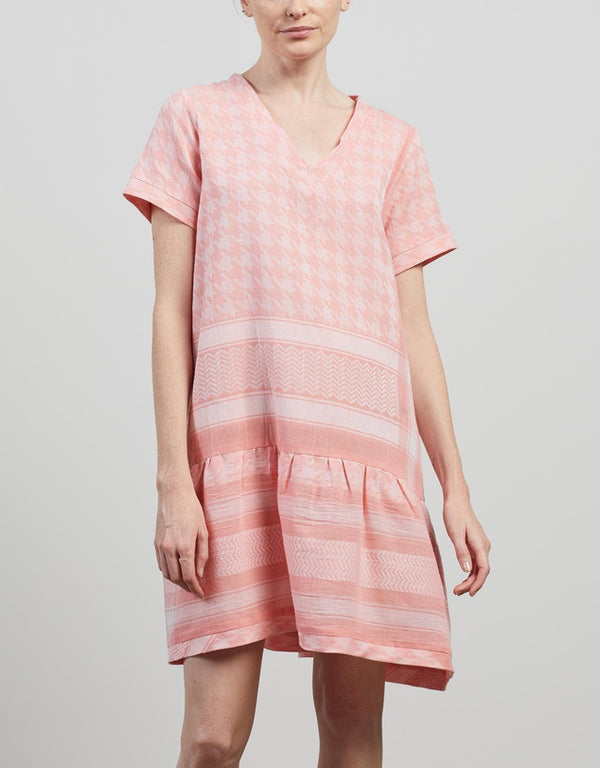 CECILIE COPENHAGEN - Dress 2 V Neck Short Sleeeve