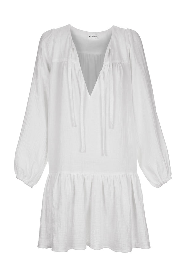 HONOUR APPAREL - Remember Me Mini Dress (White)