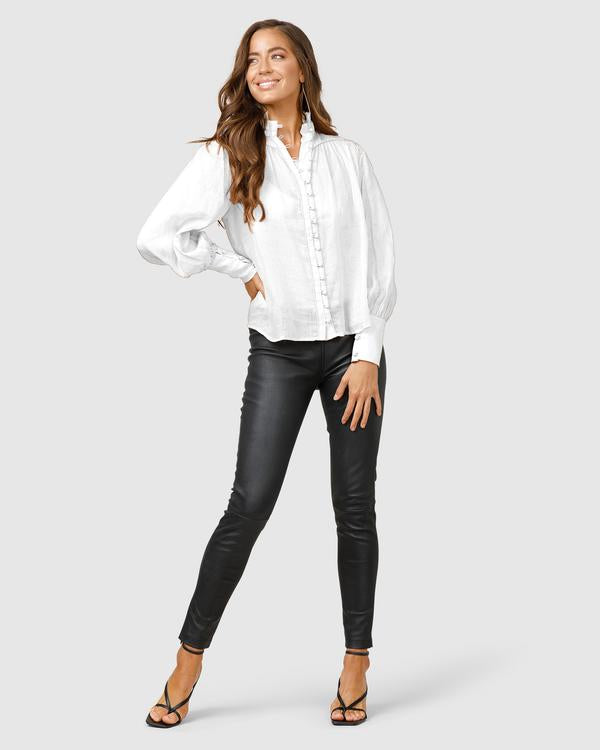 MINISTRY OF STYLE - Belle of the Bloom Shirt (White)