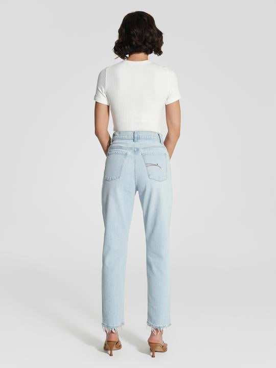 NOBODY DENIM - Frankie Jean Ankle Stretch (Glimmer)