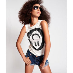 ONE TEASPOON - Black Smiley Fitted Tee (White)