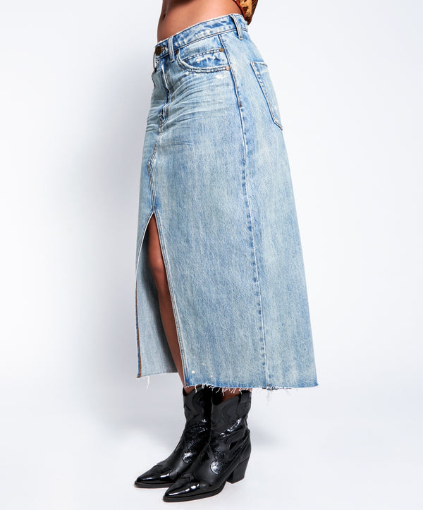 ONE TEASPOON - Kansas Blue Rocko Long Length Skirt