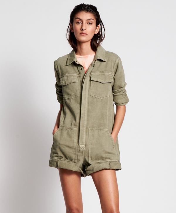ONE TEASPOON - Vintage Khaki Cargo Phrophecy Jumpsuit