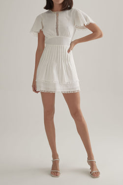 OWNLEY - Blair Dress (Prairie White)