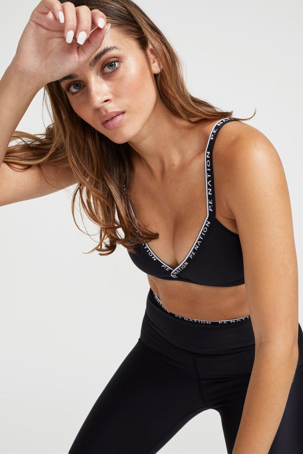 PE NATION - Power Play Sports Bra (Black)