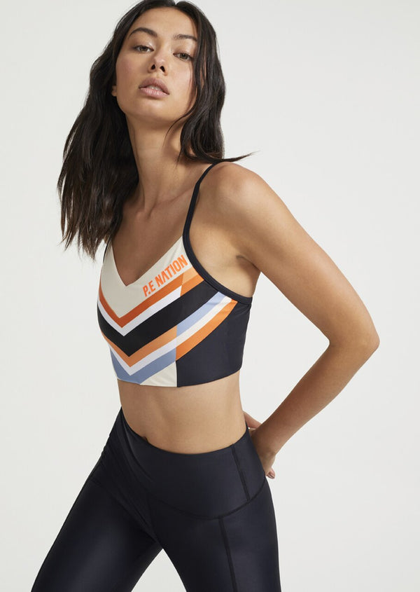 PE NATION - Score Runner Sports Bra (Pearled Ivory)