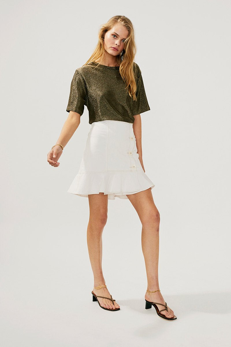 SUBOO - Lila Button Mini Skirt (Multi)
