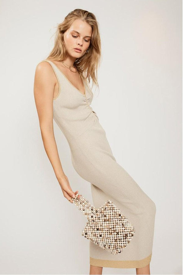 SUBOO - Sonnet Knit Dress (Beige Yellow)