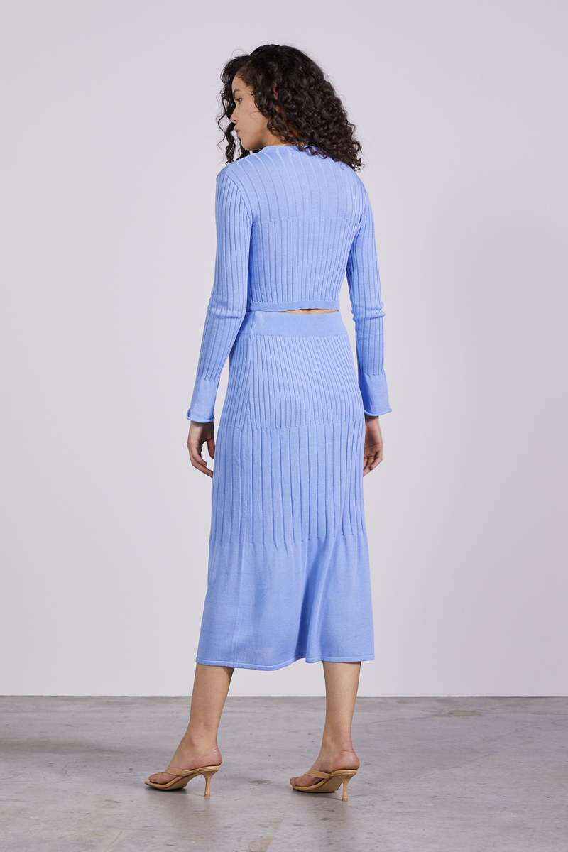 THIRD FORM - Flare Out Knit Skirt (Cornflower)