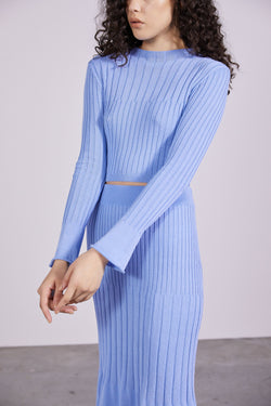 THIRD FORM - Flare Out Knit Top (Cornflower)