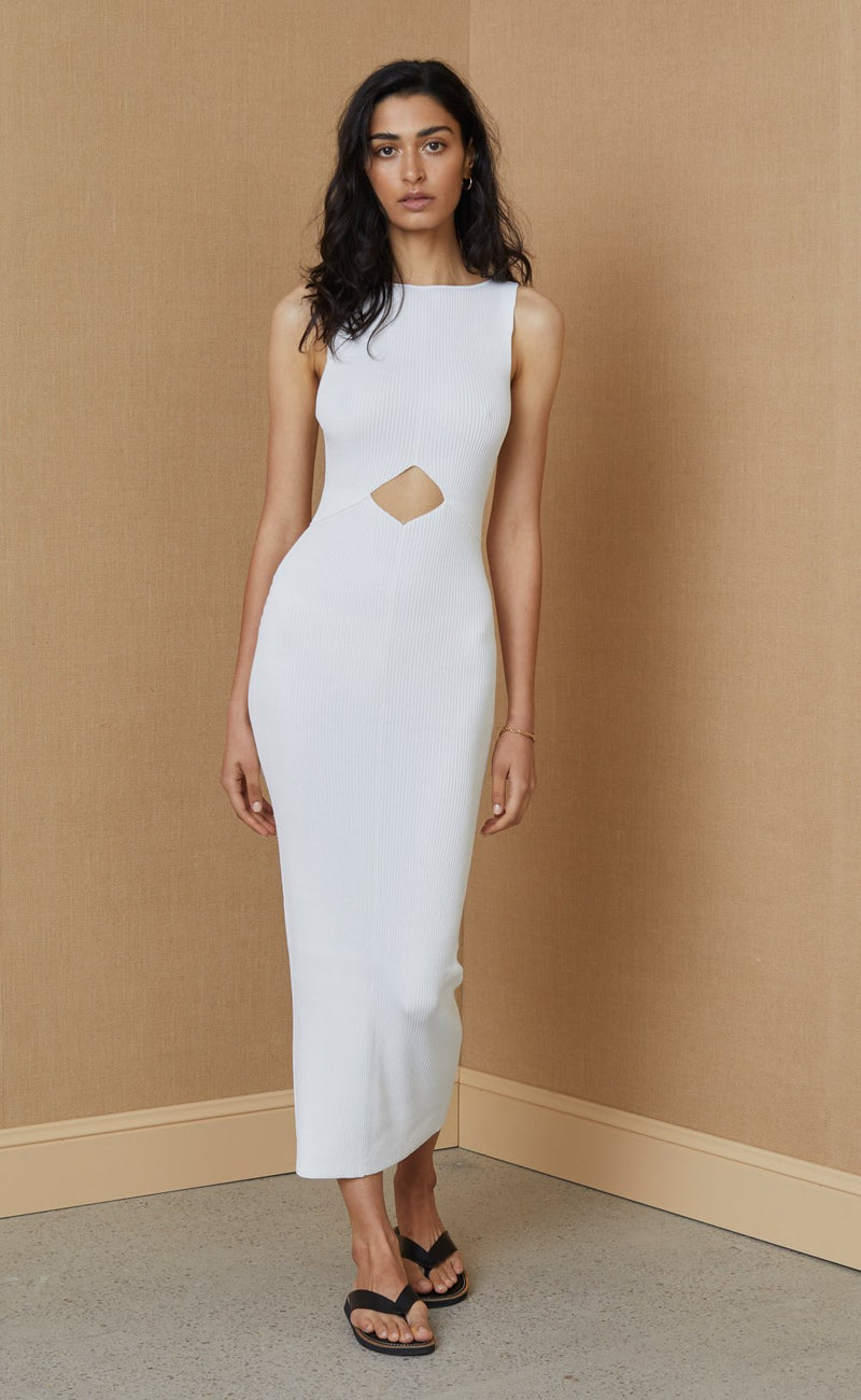 BEC & BRIDGE - Versailles Knit Midi Dress (Ivory)