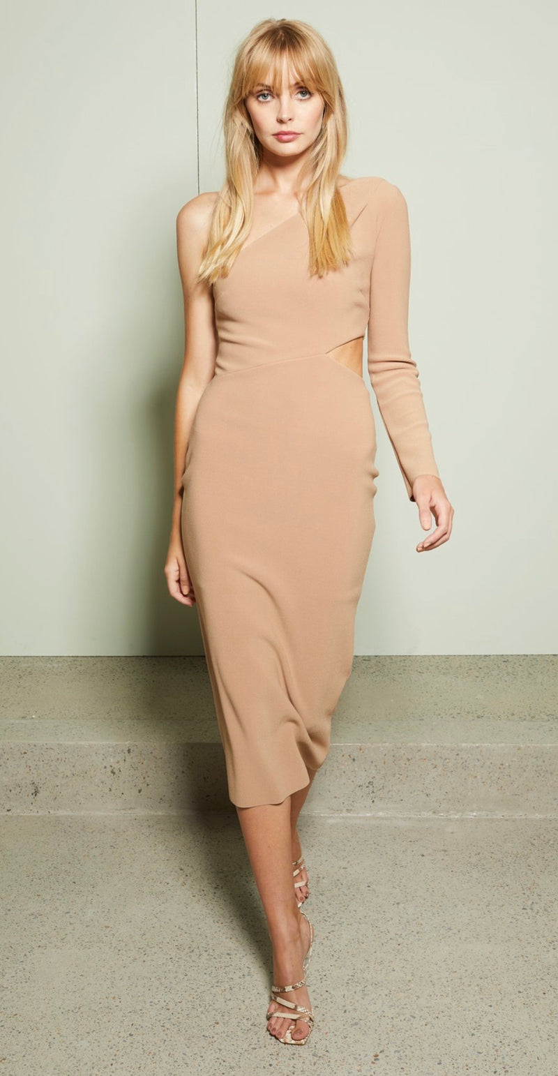 Bec + Bridge - ELKE AYSM MIDI DRESS in Caramel