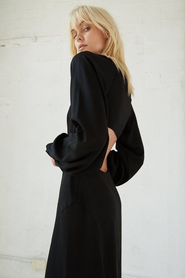 Third Form - Linger On Maxi Dress (Black)