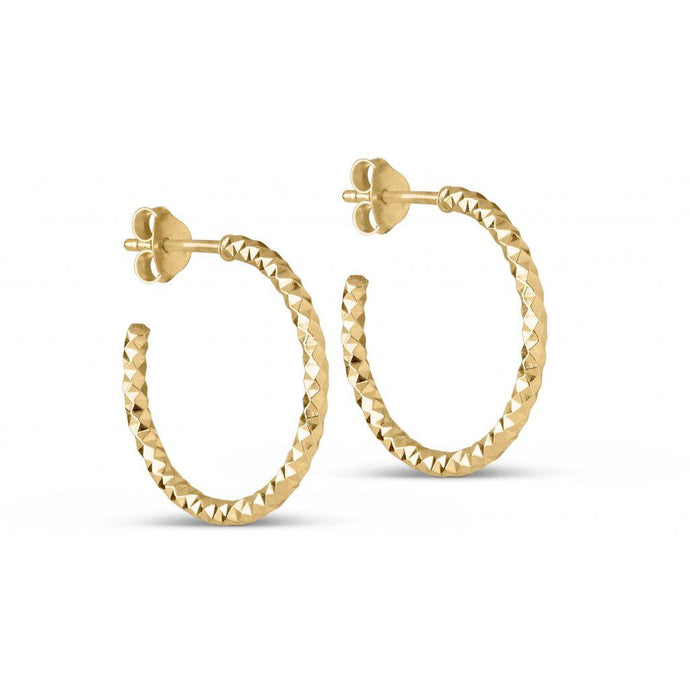 HOOPS DIAMOND CUT SMALL, GOLD-Enamel-minlillebutik