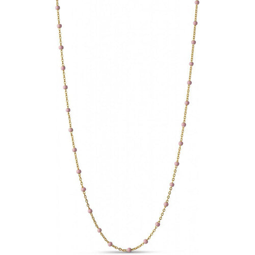 LOLA NECKLACE, LIGHT PINK-Enamel-minlillebutik