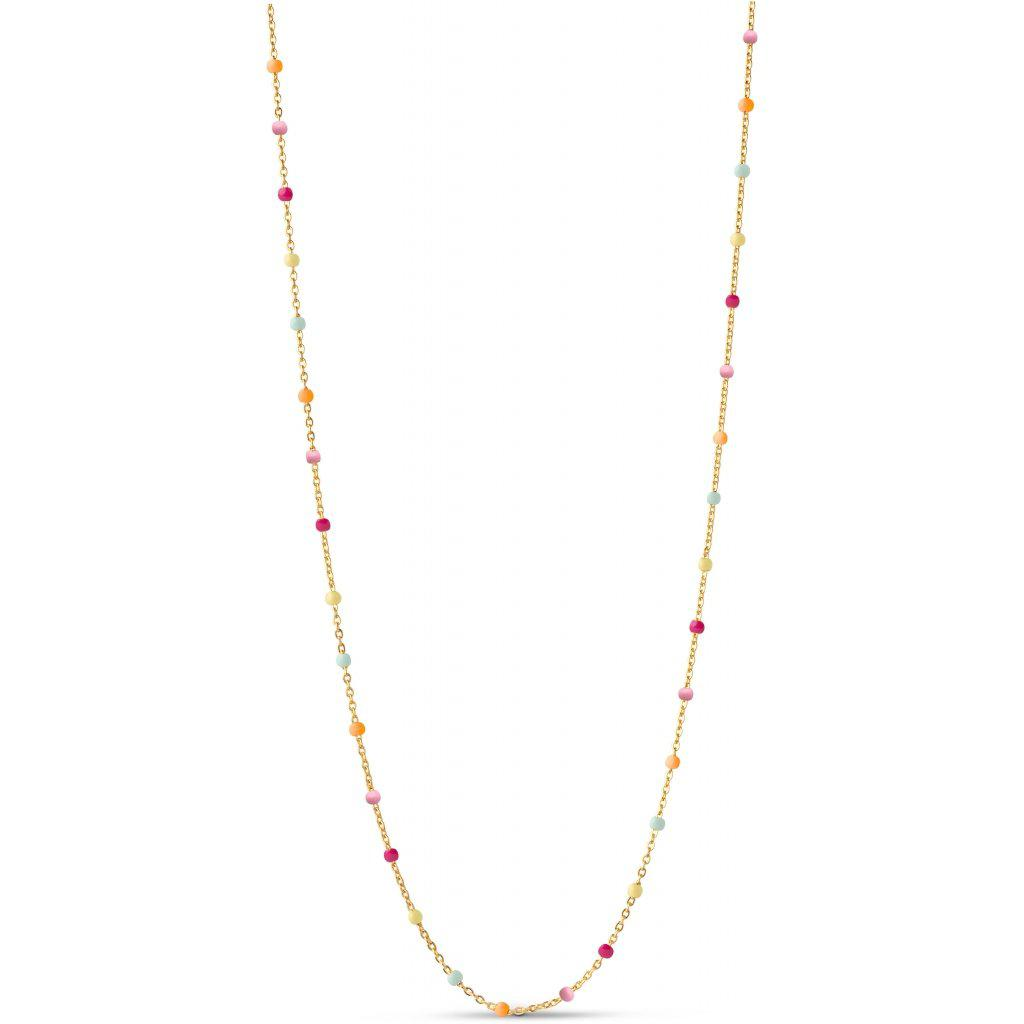 LOLA NECKLACE, RAINBOW-Enamel-minlillebutik