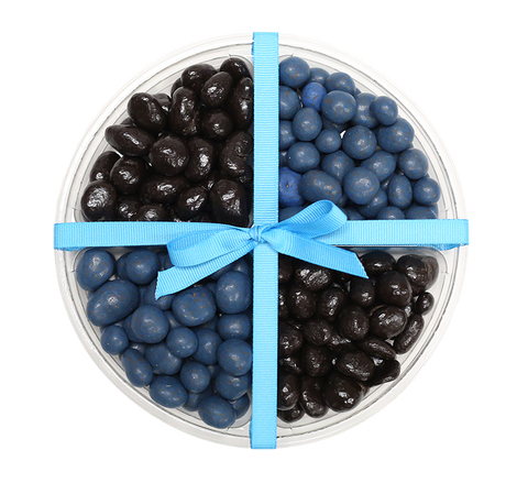 Black & Blue Happy Plate