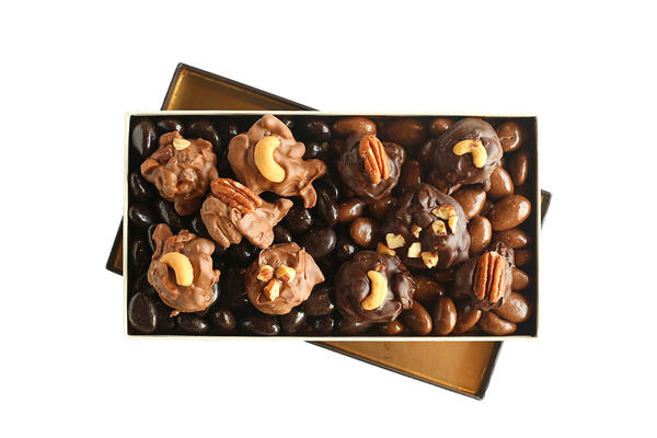 Oh for the Love of Nuts! Milk and Dark Chocolate Belgian Box