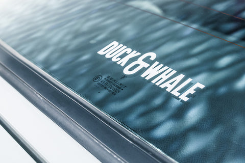 Vinyl Cut Duck & Whale Transfer Sticker