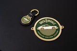 Gold Grill Badge & Keyring Set