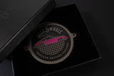Black Nickel & Rubystone (Pink) - Porsche Driving Culture Grill Badge - NEW