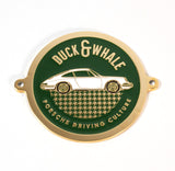 Gold - Porsche Driving Culture Grill Badge - NEW