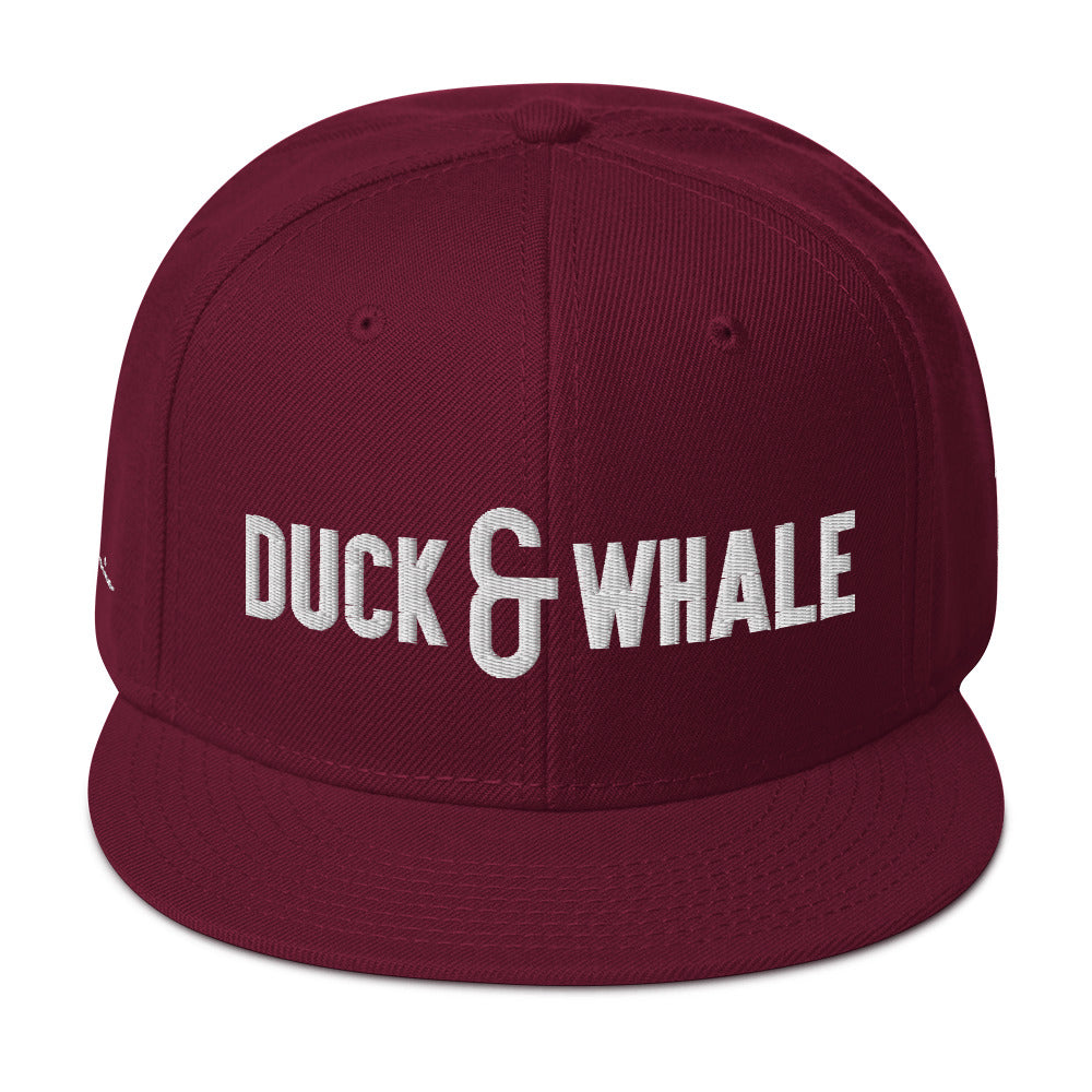 Duck & Whale Snapback Hat (3 color ways to choose from)