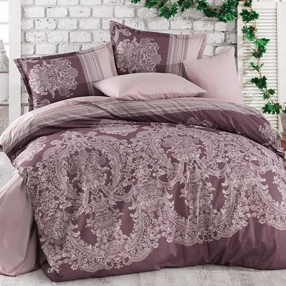 Edura 100% Cotton Duvet Cover set from Turkey. Includes 2 matching pillowcases