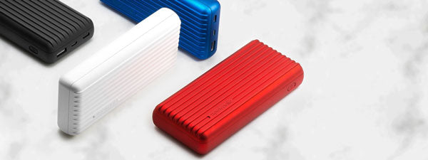 20000mAh Grooved Hard Shell Power Pack
