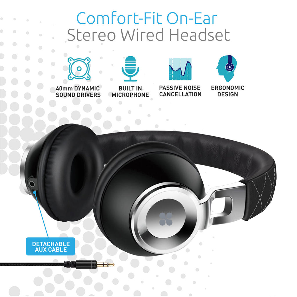 660ae6e0ffb Comfort-Fit On-Ear Stereo Wired Headset – Promate Technologies