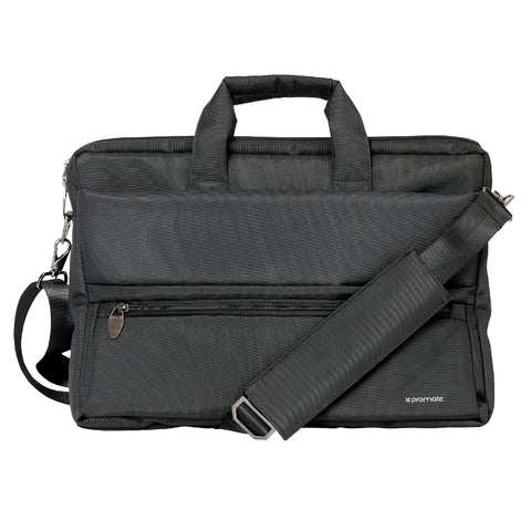 Multi-function Messenger Bag with Multiple Zippered Pockets for Tablets and Laptops