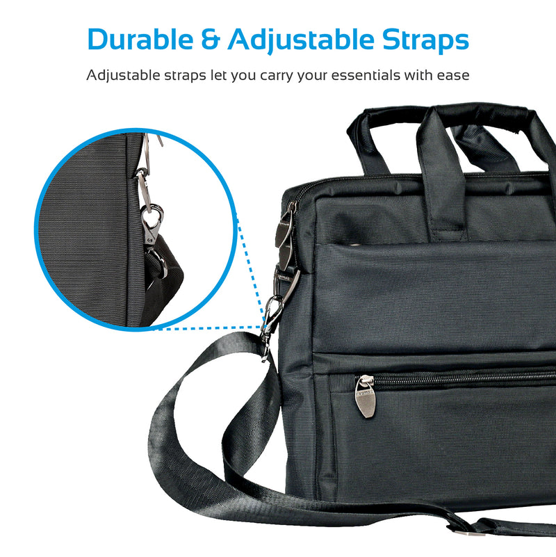 Multi-function Messenger Bag with Multiple Zippered Pockets for ... b1247f4e62