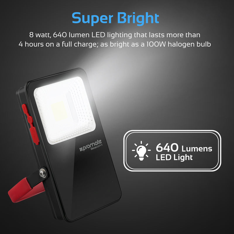 Ultra-Bright Portable LED Flood Light with Power Bank