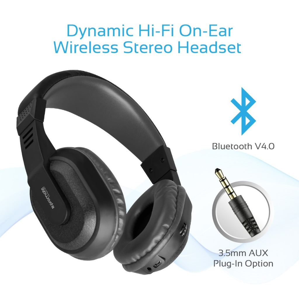 2759f94a537 Rechargeable Over-Ear Wireless Stereo Headset with Hi-Fi Sound – Promate  Technologies