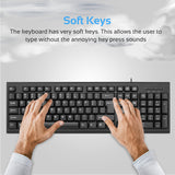 Ergonomic Wired USB Full-Size Keyboard & Mouse Combo